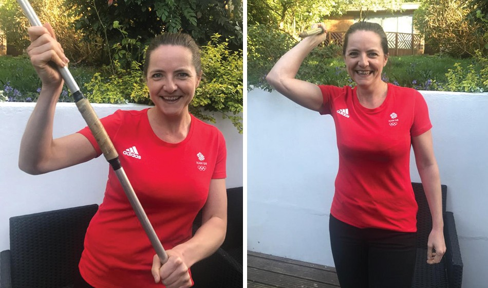 Goldie Sayers takes on javelin 2.6 Challenge