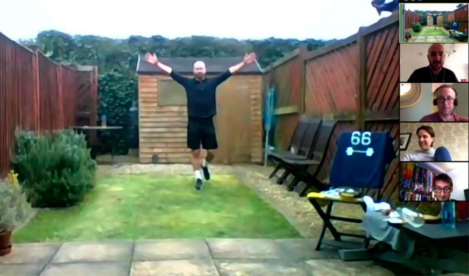 James Campbell completes #6MetreGardenMarathon challenge for charity