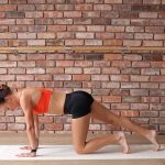 Lily Partridge's pre-run yoga warm-up
