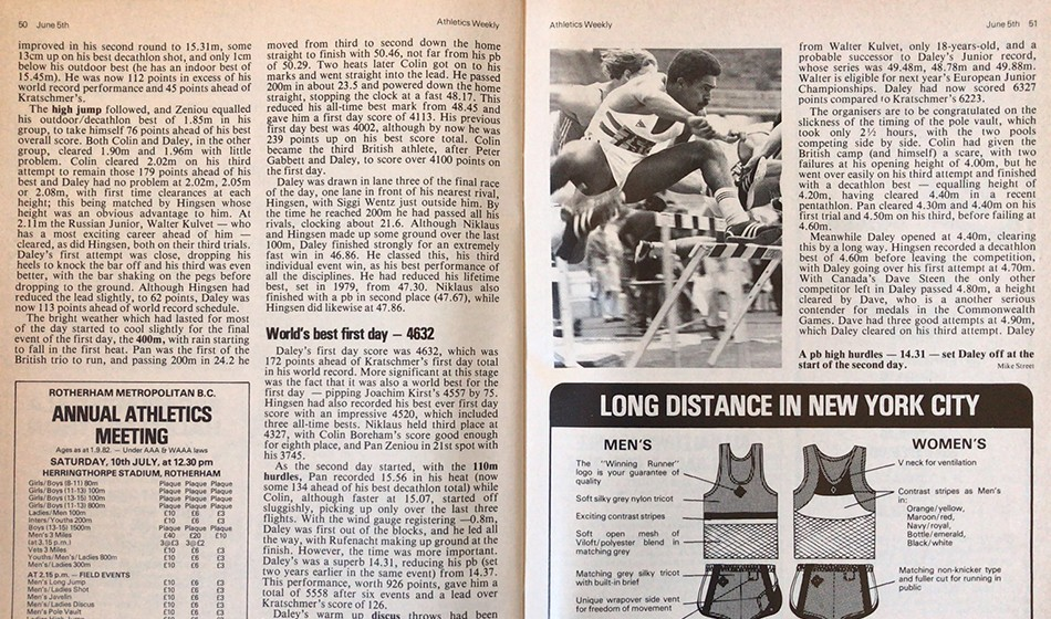 From the AW archive: Daley Thompson's 1982 decathlon world record in Götzis