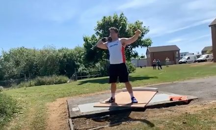 Scott Lincoln and Sophie McKinna win virtual shot put rematch