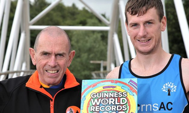 Father and son celebrate marathon Guinness world record