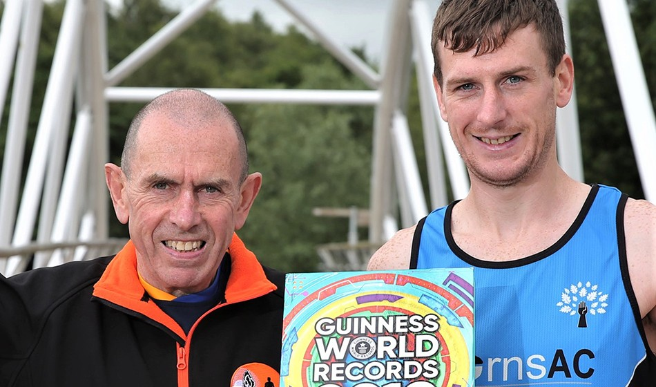 Father and son celebrate marathon Guinness world record