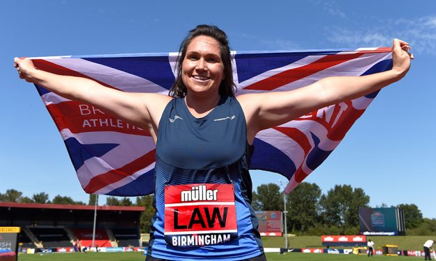 Football transfer pays off for thrower Kirsty Law