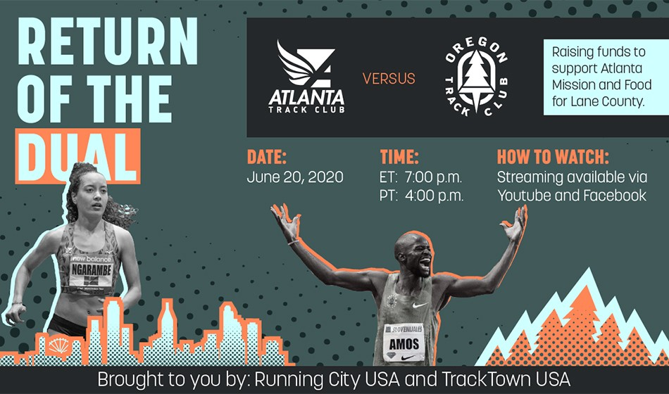 LIVE STREAM: Atlanta and Oregon track clubs clash in 'Return of the Dual'