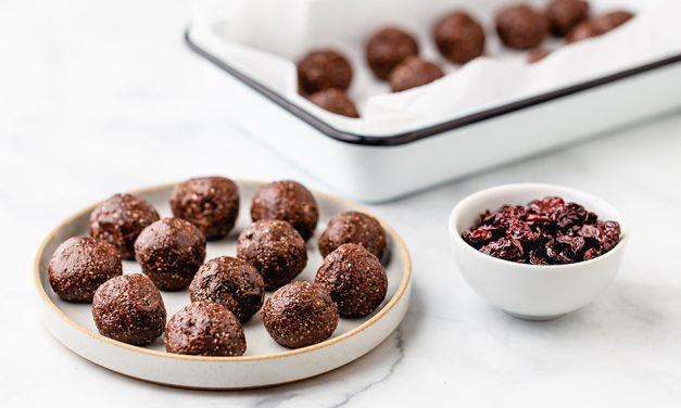 Recipe: Tart cherry coconut energy balls