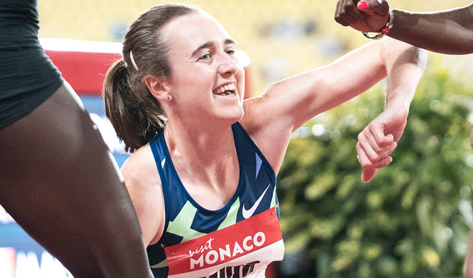 Laura Muir breaks British 1000m best on Diamond League return