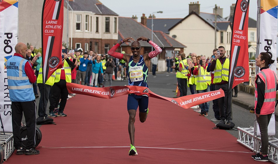 Antrim Coast Half Marathon wins for Mo Farah and Lily Partridge
