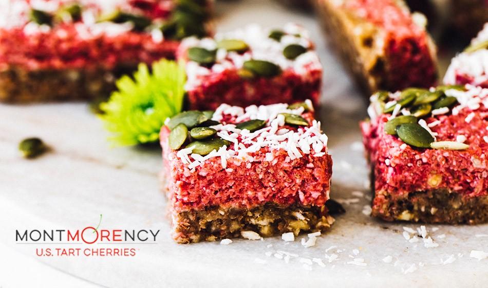 Recipe: Tart cherry vegan superfood bars - AW